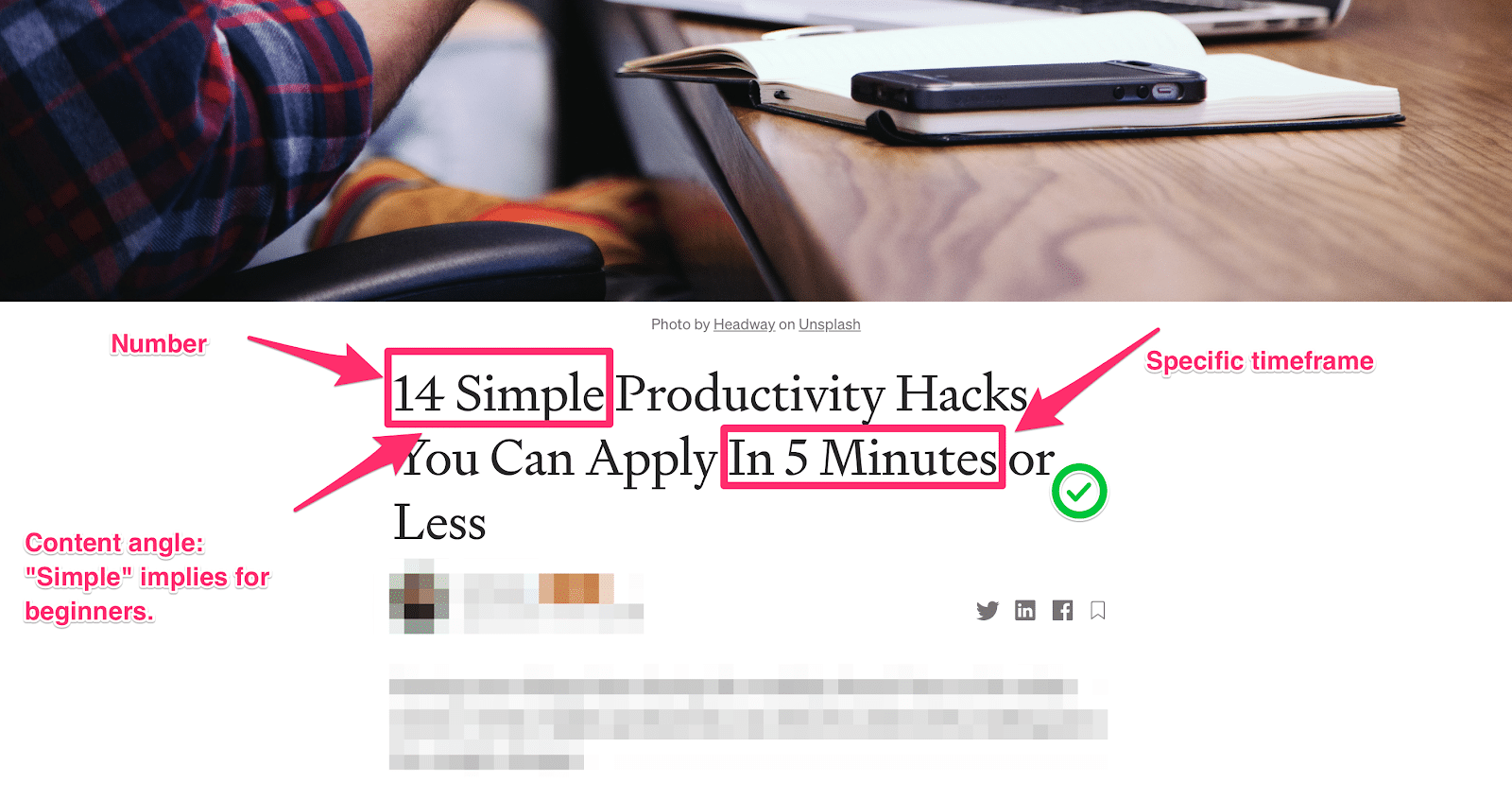 revised headline example using specific numbers and timeframe