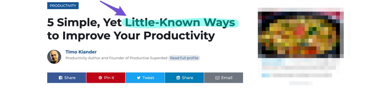 blog titles with little known ways in headline