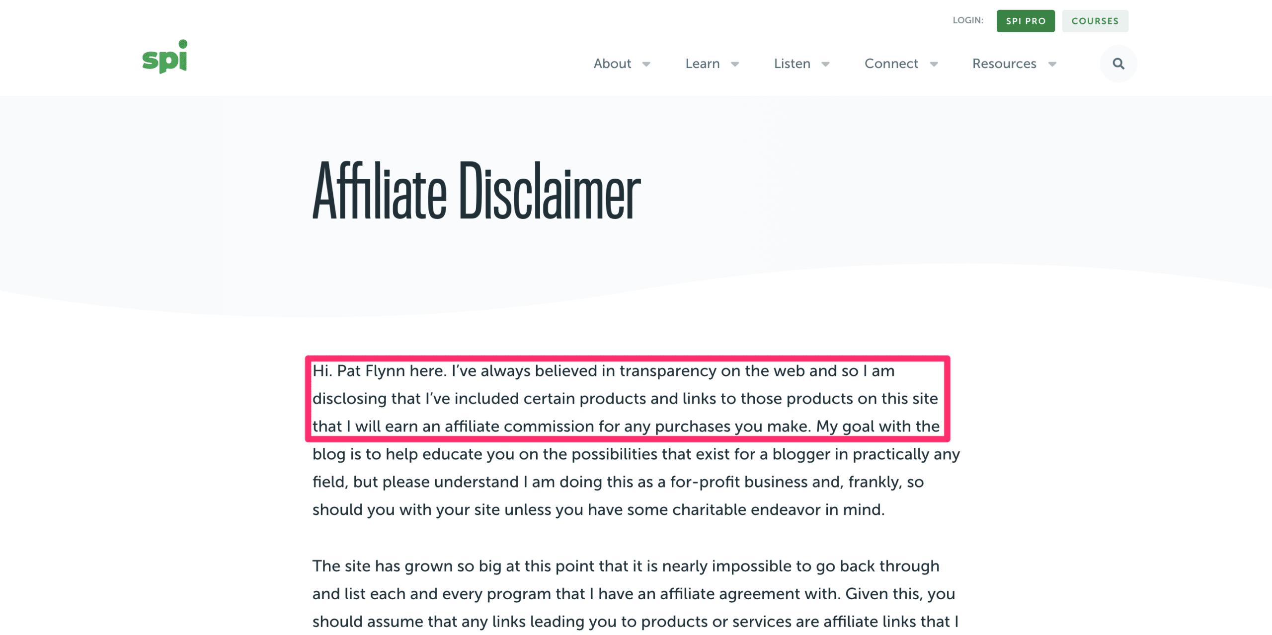 smart passive income disclaimer page