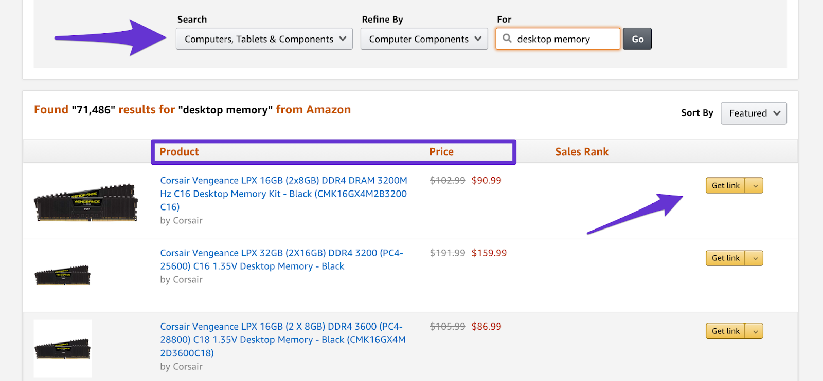 where to get your affiliate link inside amazon associates account