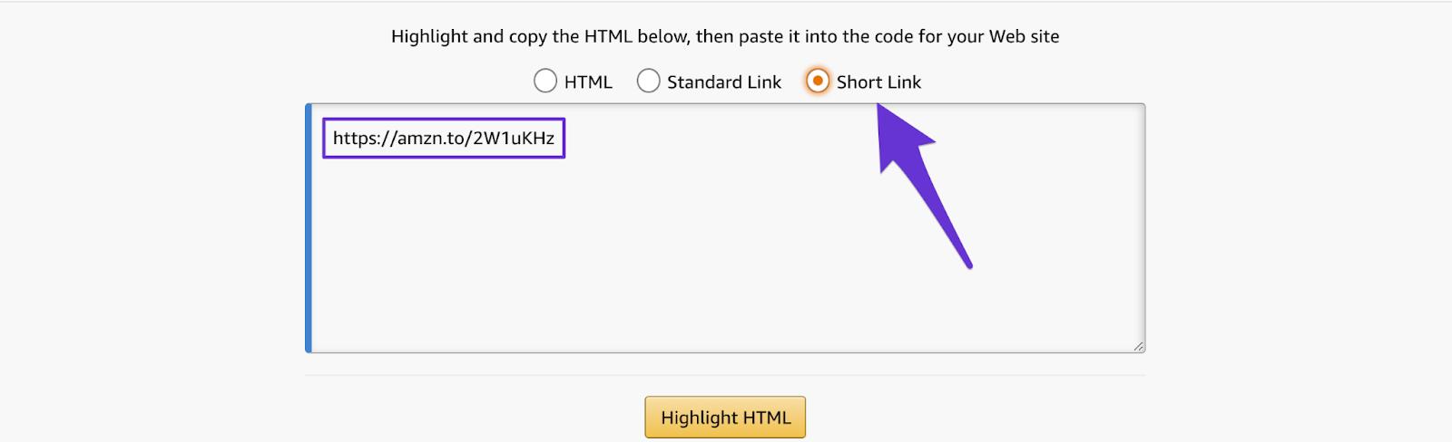 shortening your amazon affiliate link