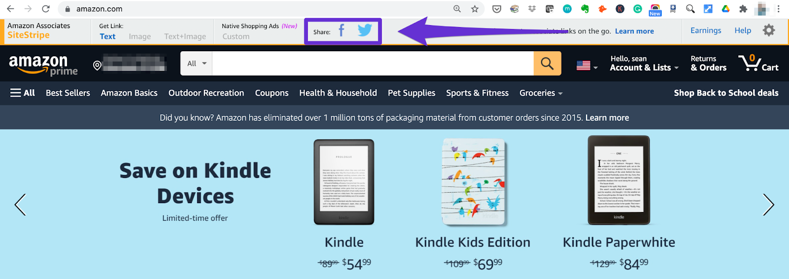 amazon affiliate program site strip social share buttons