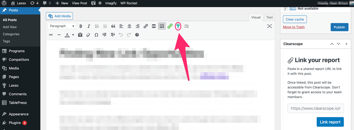 adding cactus icon at top menu bar in wordpress