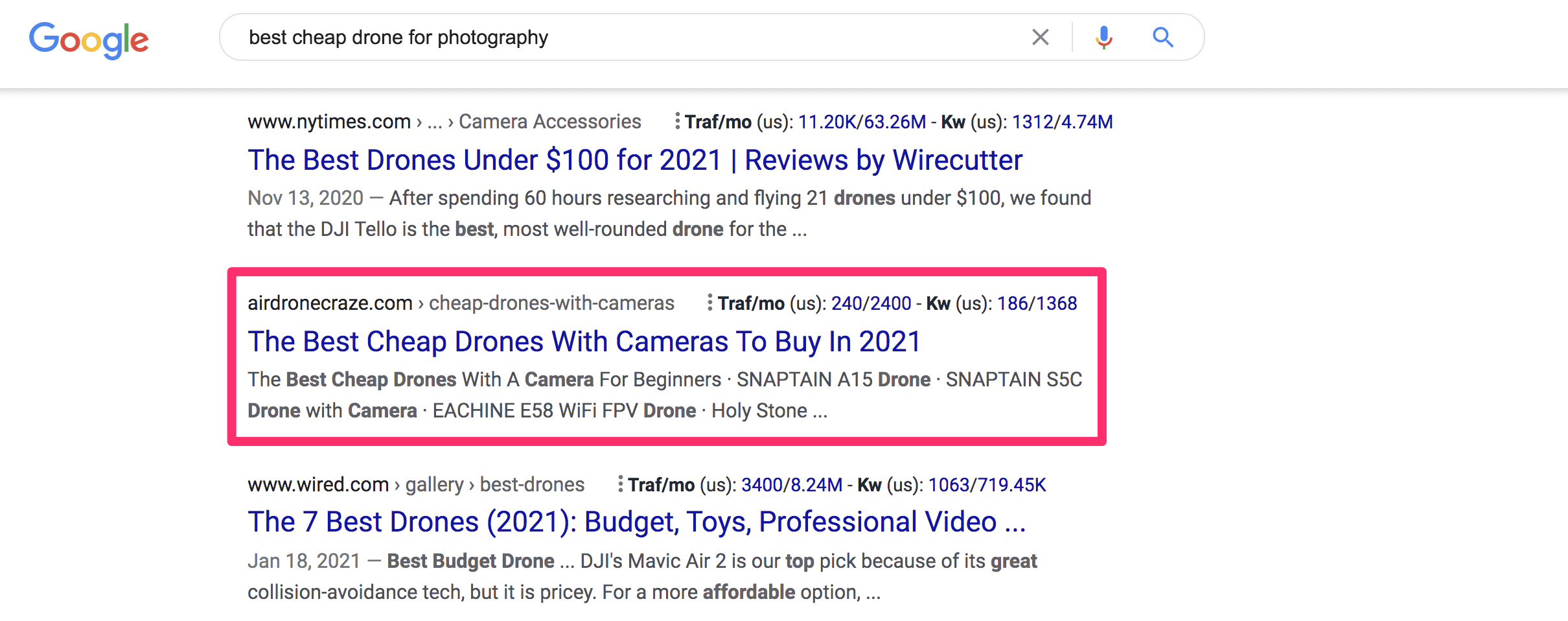 low domain ranked sites appearing in the serps