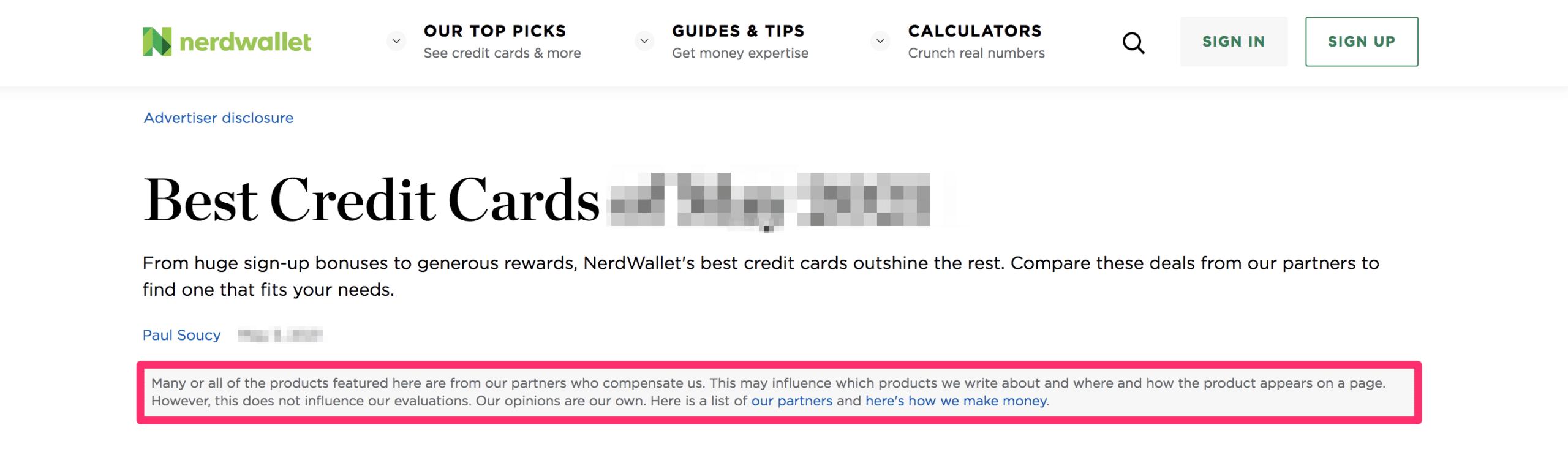 nerd wallet affiliate disclosure