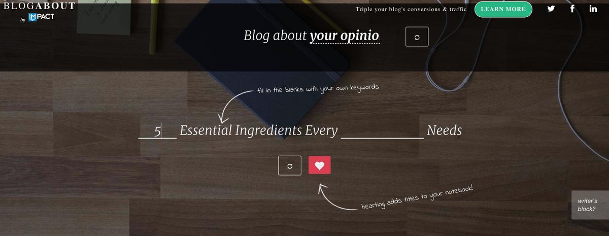 impact blog title generator tool