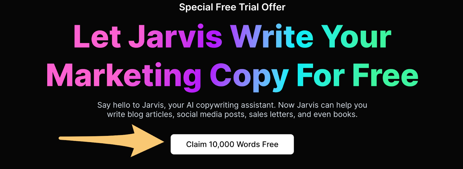jarvis.ai landing page example