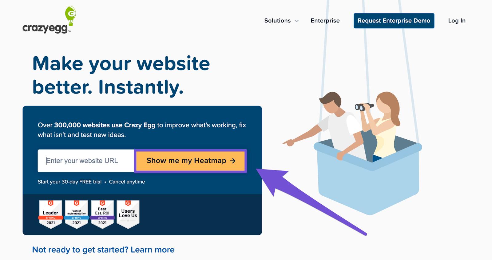 craze egg example on homepage