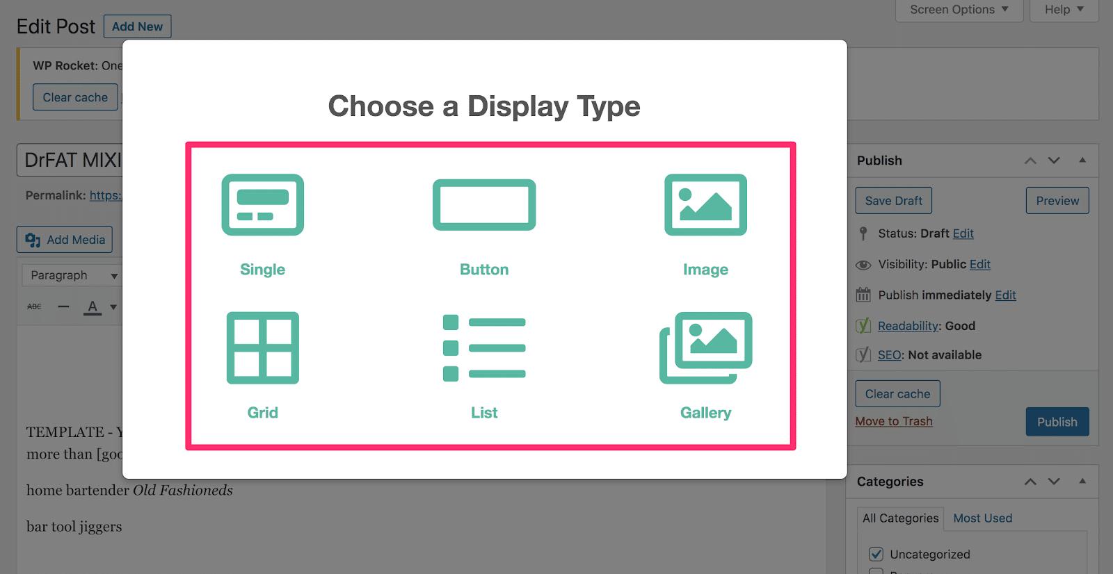 choosing display types