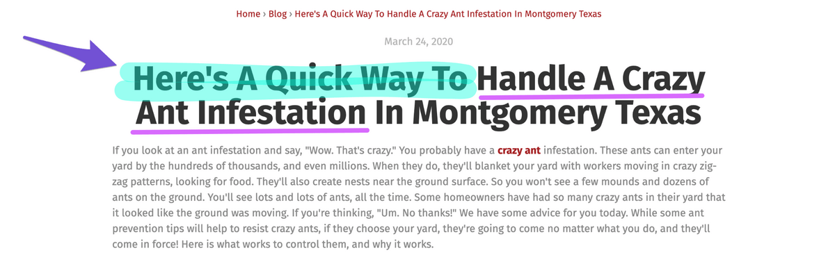 blog titles with here's a quick way to in the headline