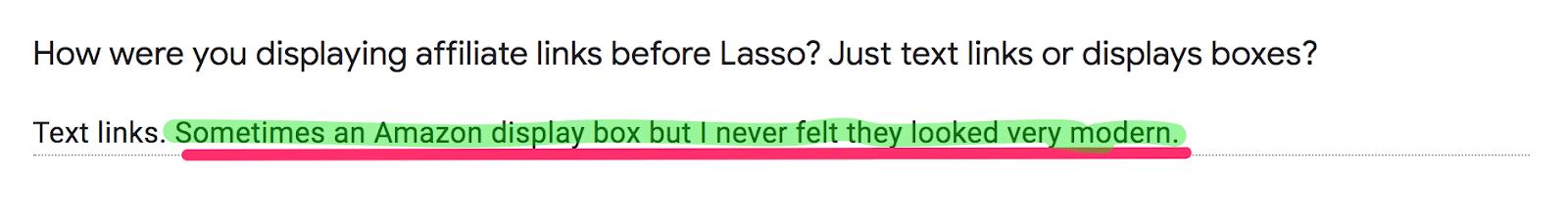 lasso case study example