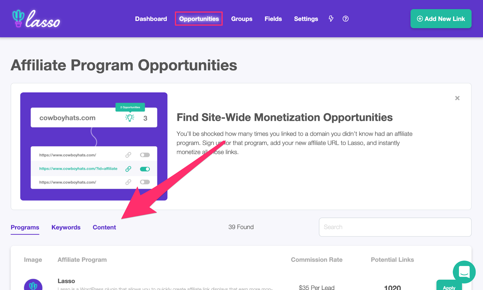 finding linking opportunities in your content