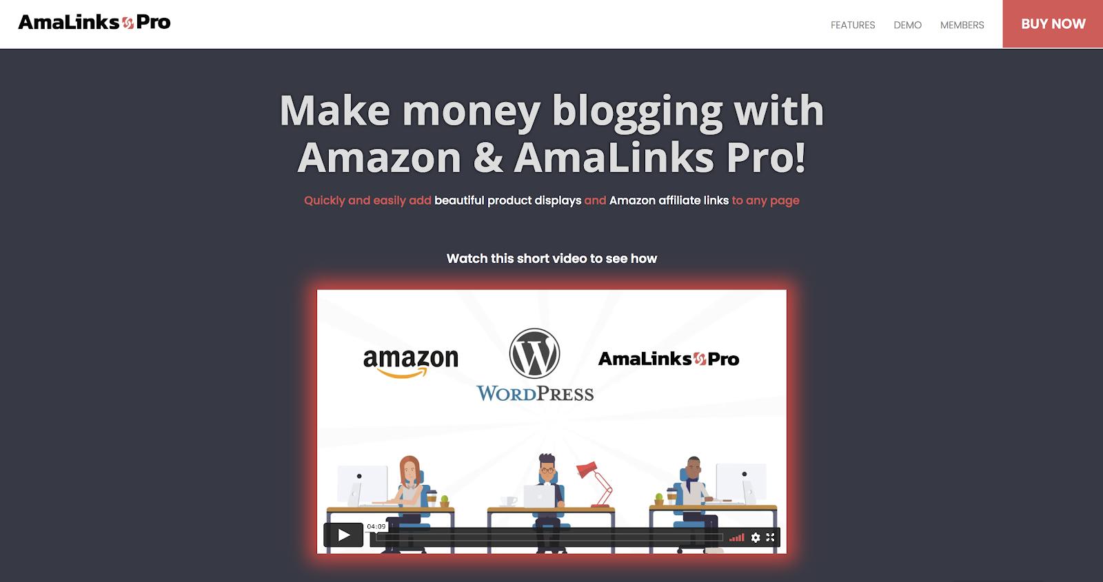 amalinks pro wordpress amazon affiliate plugin