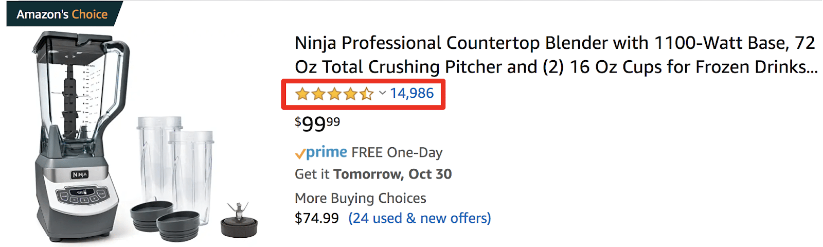 amazon customer review number example