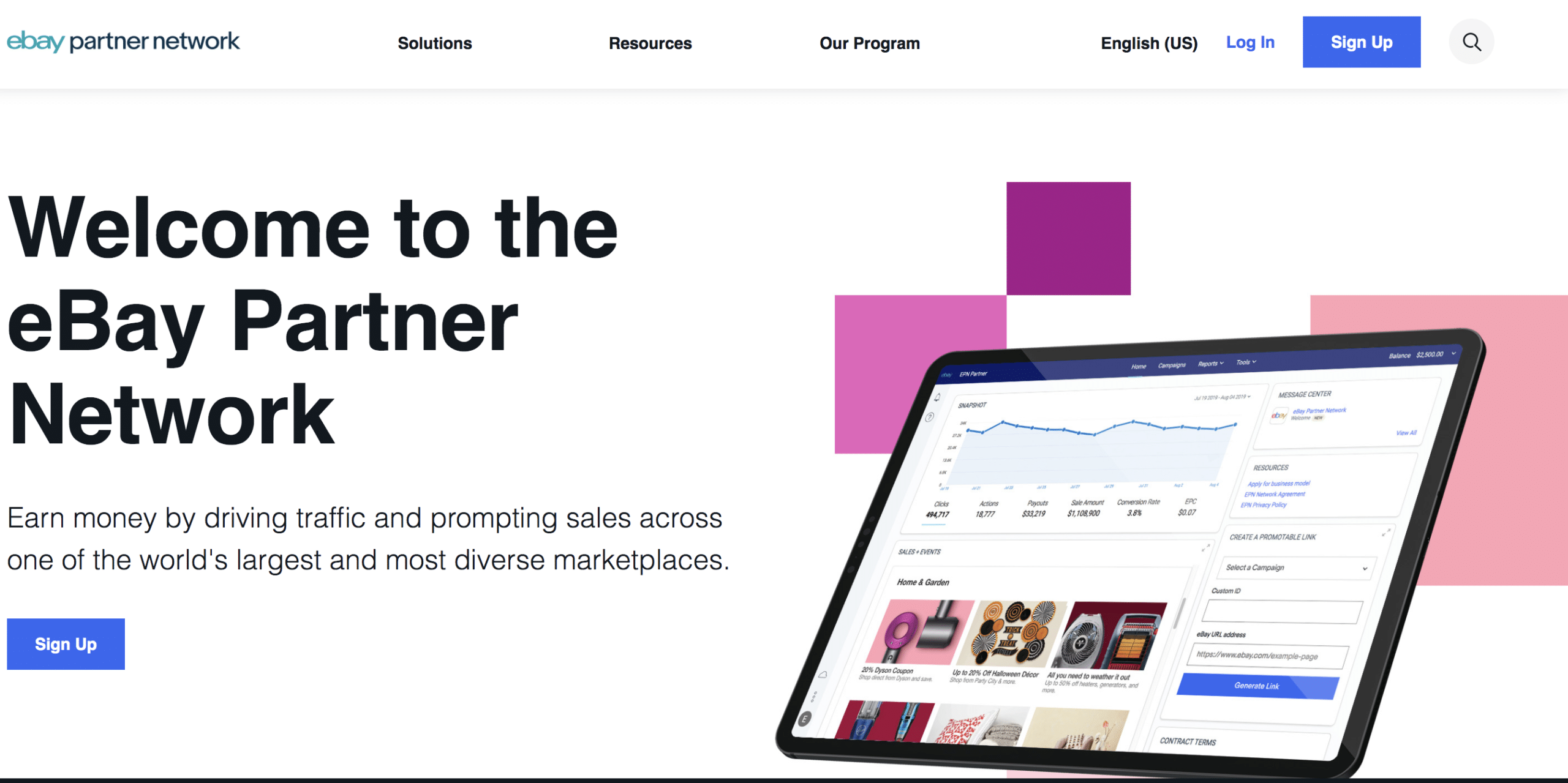 ebay partner program homepage