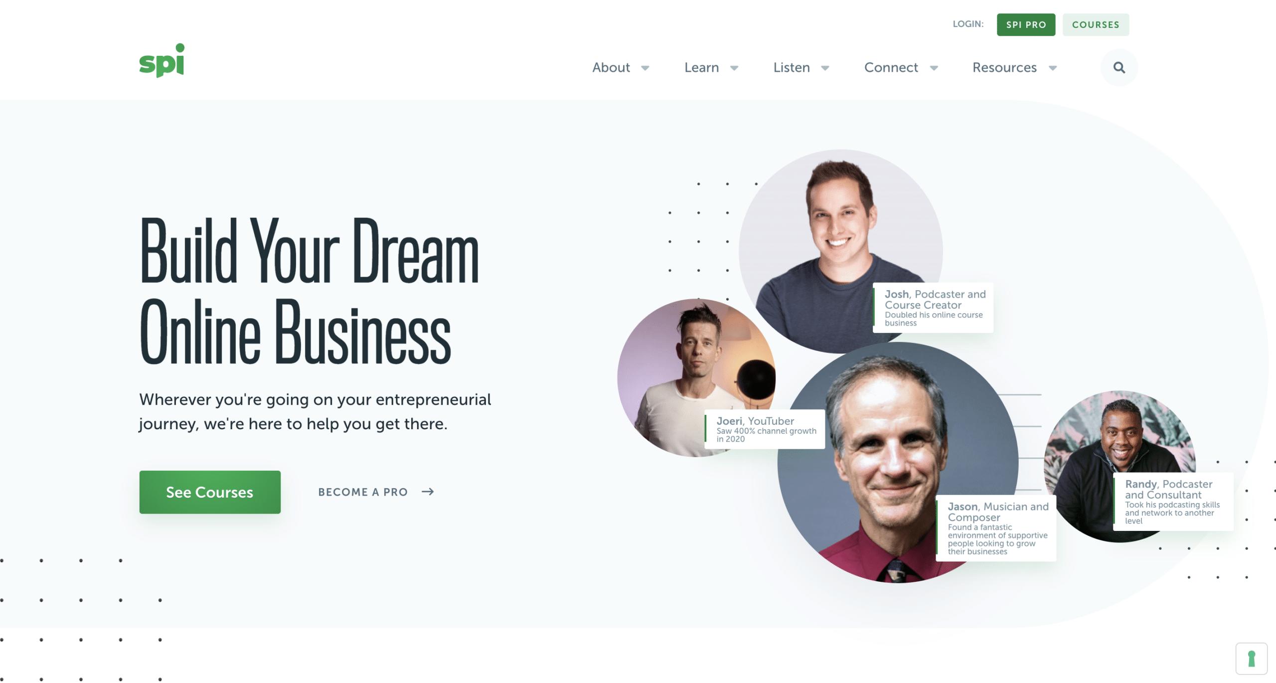 smart passive income website homepage