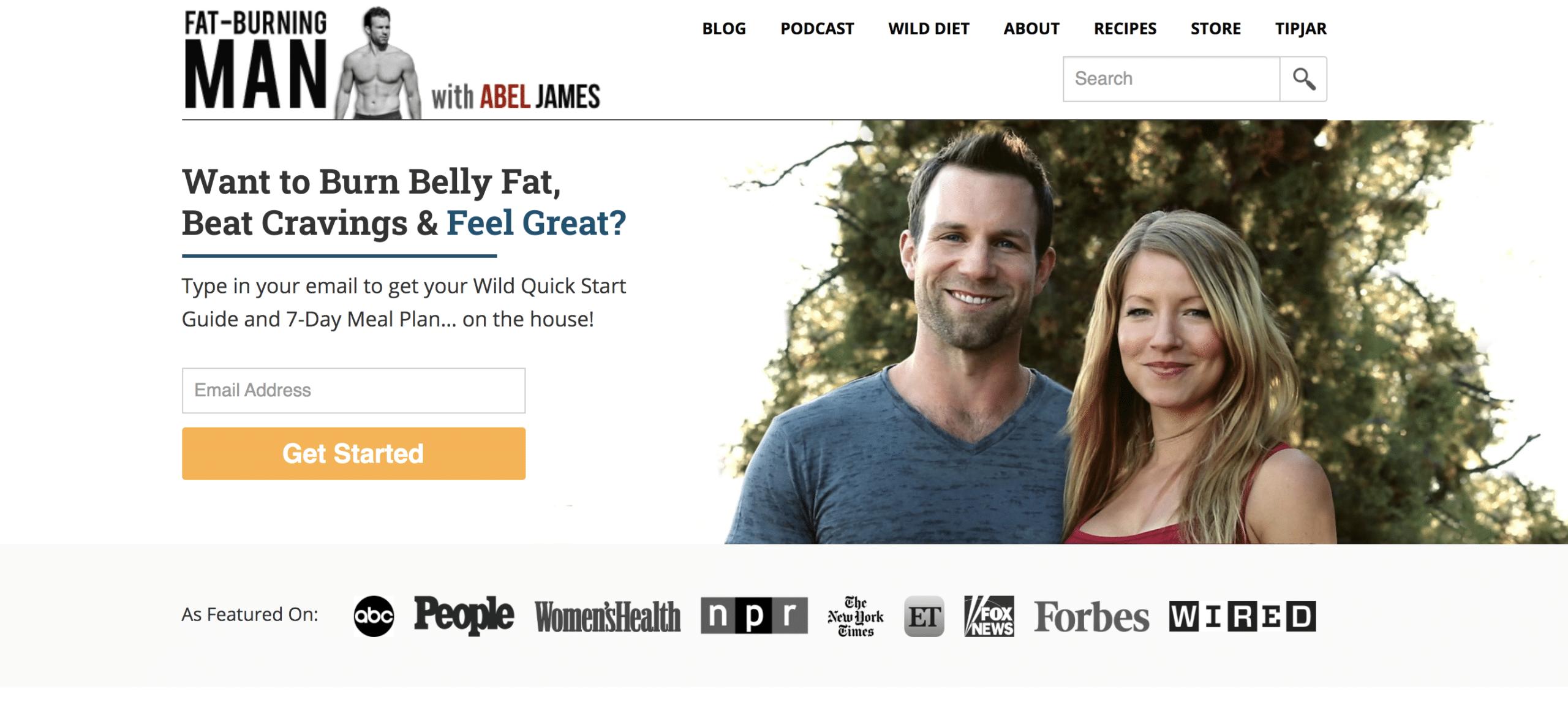 fat burning man fitness blog homepage