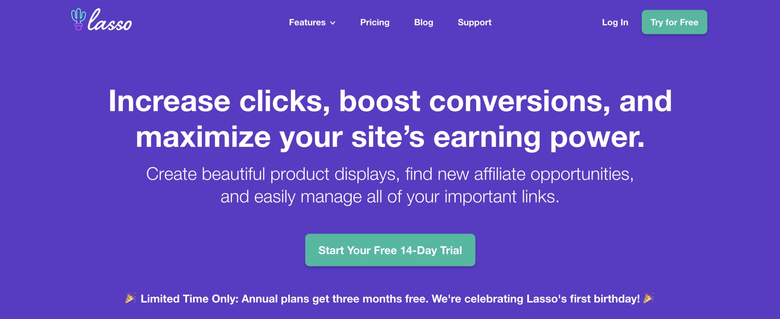 lasso homepage