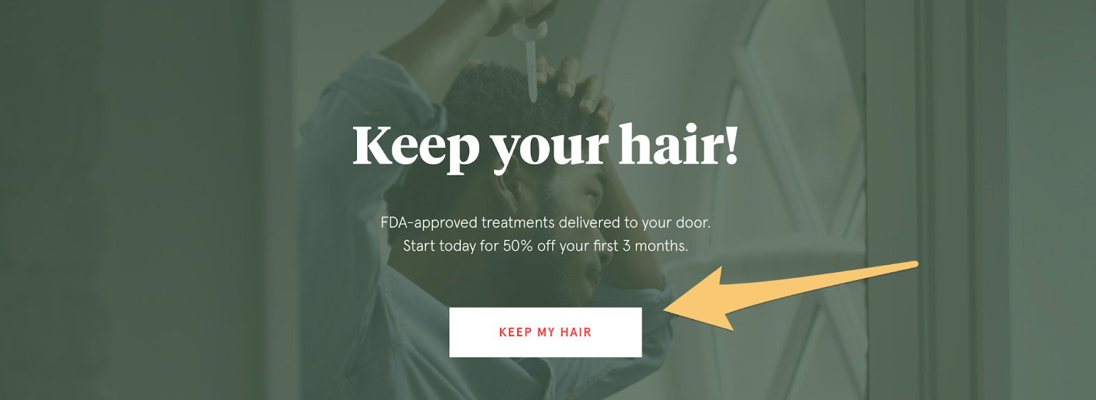 hair loss call to action example