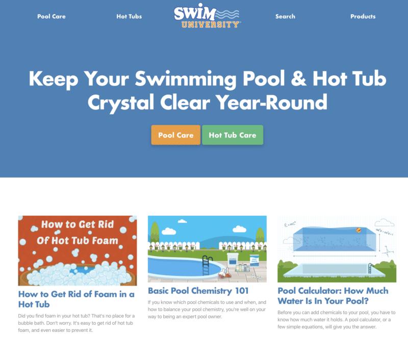 Swim University Homepage