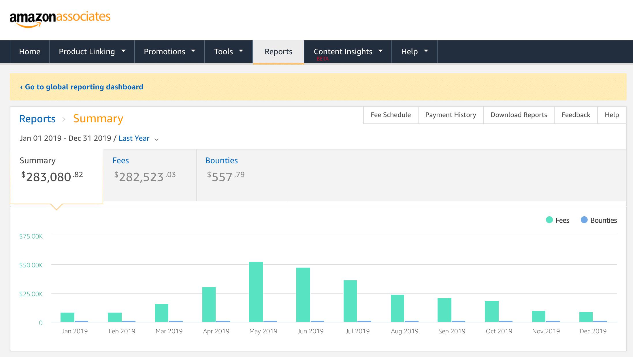 SwimU Amazon Associates 2019 earnings