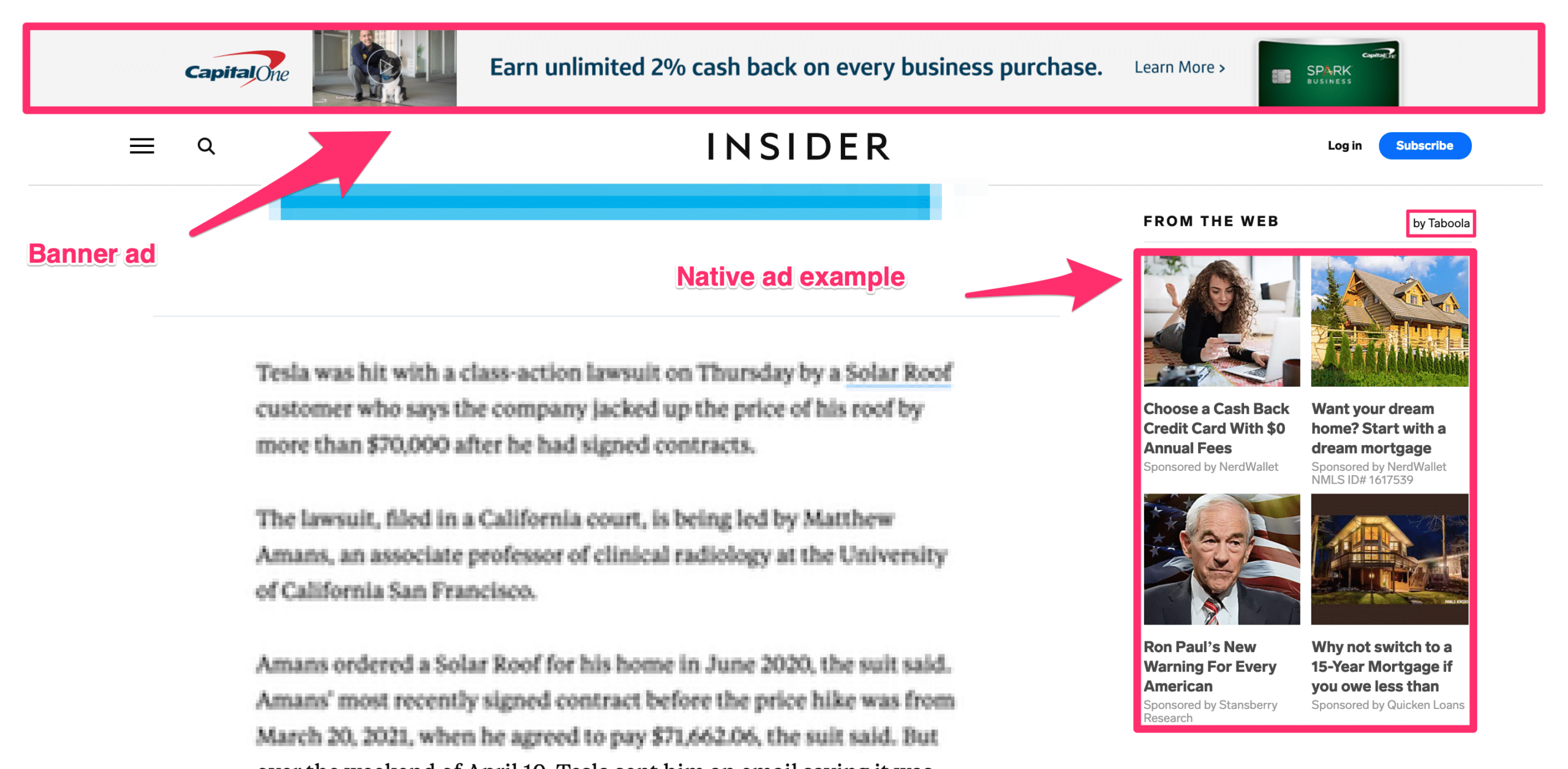 native ad example