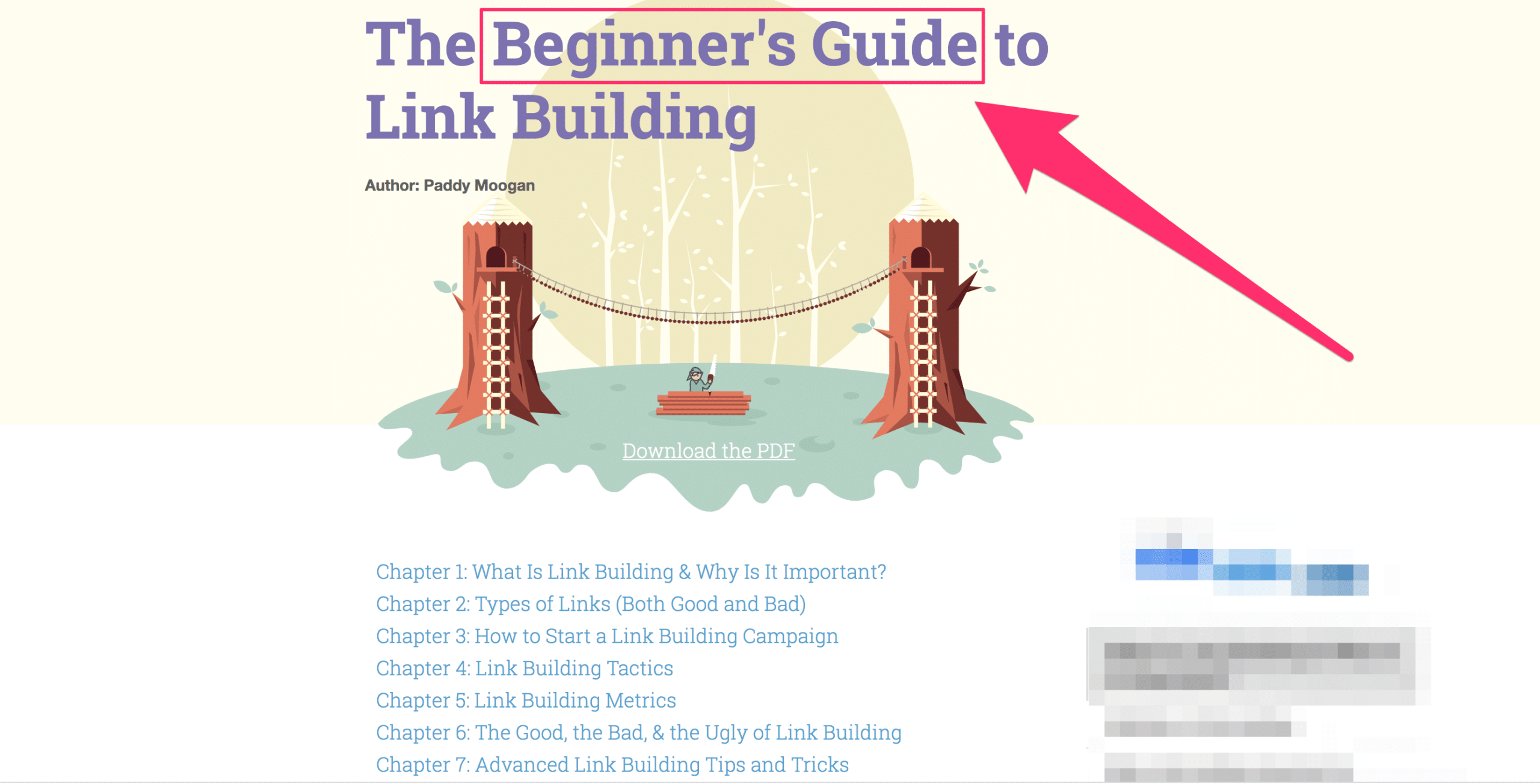 moz beginner guide to link building