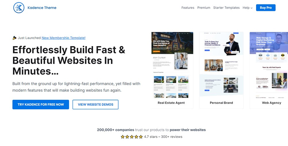 kadence homepage how much does it cost to start a blog