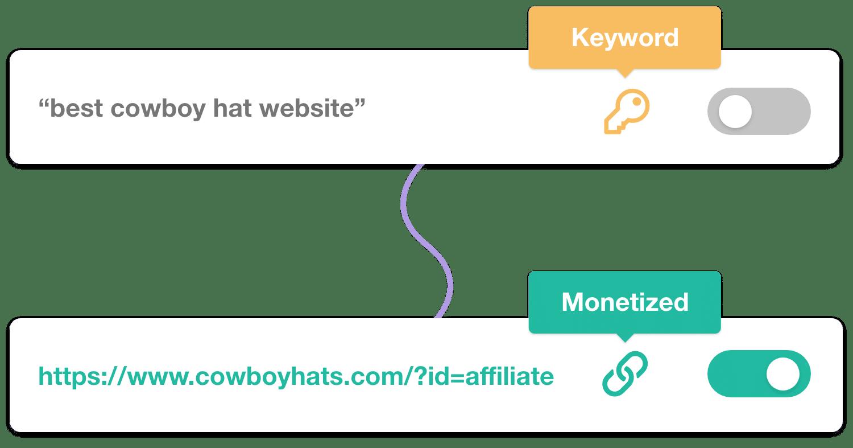 Monetize Keyword Toggle
